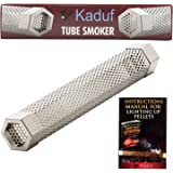"""Kaduf Pellet Tube Smoker 12"""" for Smoking, Add to Your Grill or Smoker For Additional Smoke Flavor to Your Foods for 4H, Works With Pellets and Wood Chips, For Cold Smoke Cheese and Fish"""