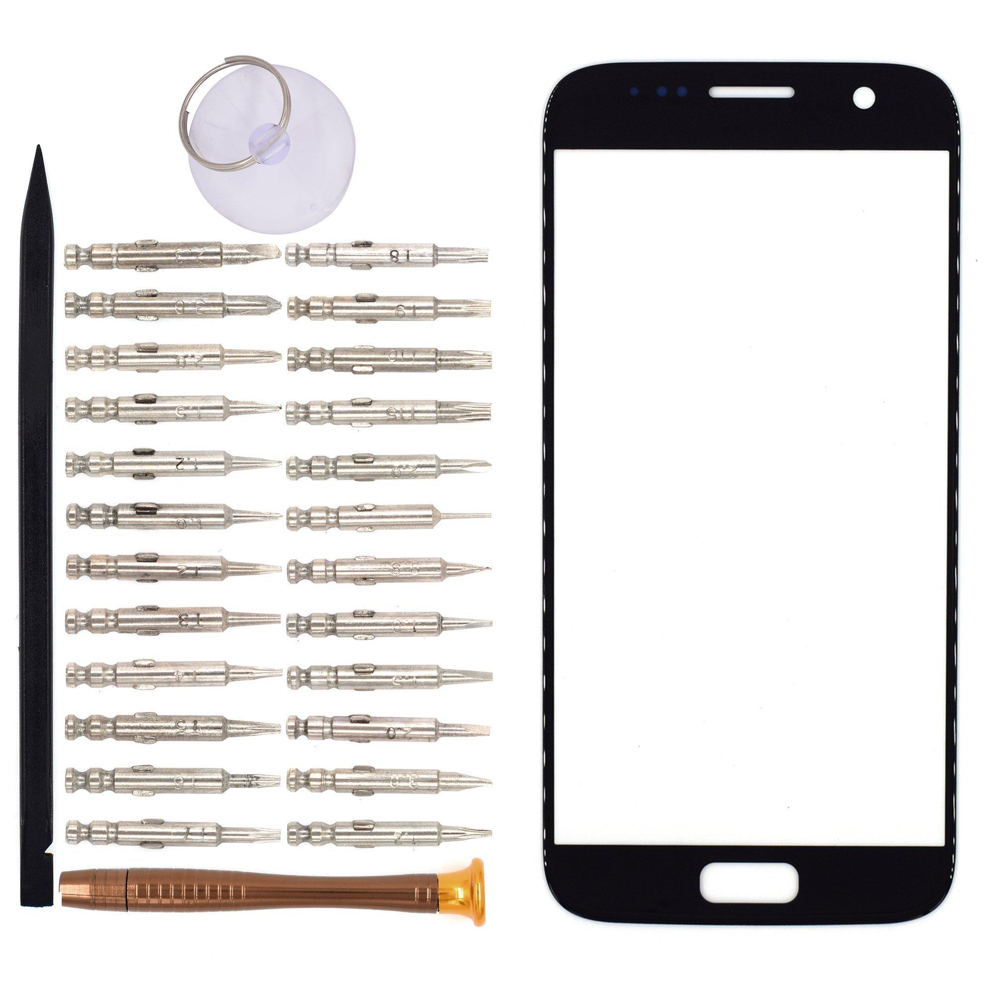 Vidrio Frente Para Samsung Galaxy S7 Negro [goodyitou]