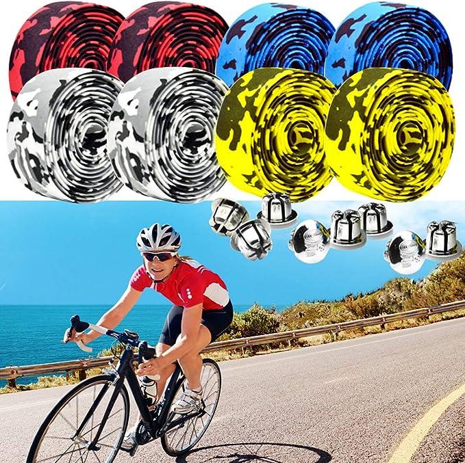 4pcs Cycling Road Bike Bicycle Handlebar Tape Bicycle Drop Bar Wrap Ribbon