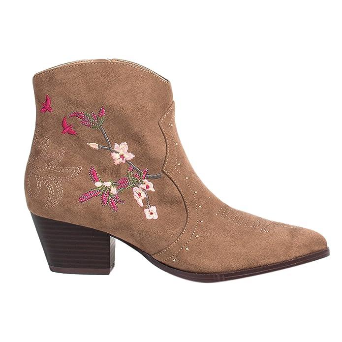Parfois - Botines Cowboy - Mujeres - Tallas 42 - Marron: Amazon.es: Zapatos y complementos