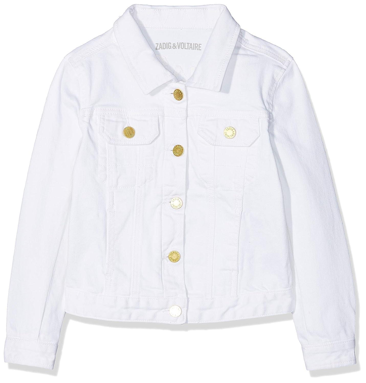 ZADIG& VOLTAIRE Veste Denim, Americana para Niñas (Blanc 10B) X16018