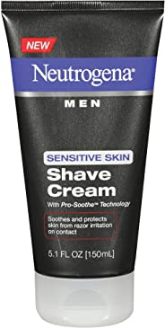 Neutrogena Men Sensitive Skin Shave Cream, 5.1 Fl. Oz (Pack of 2)