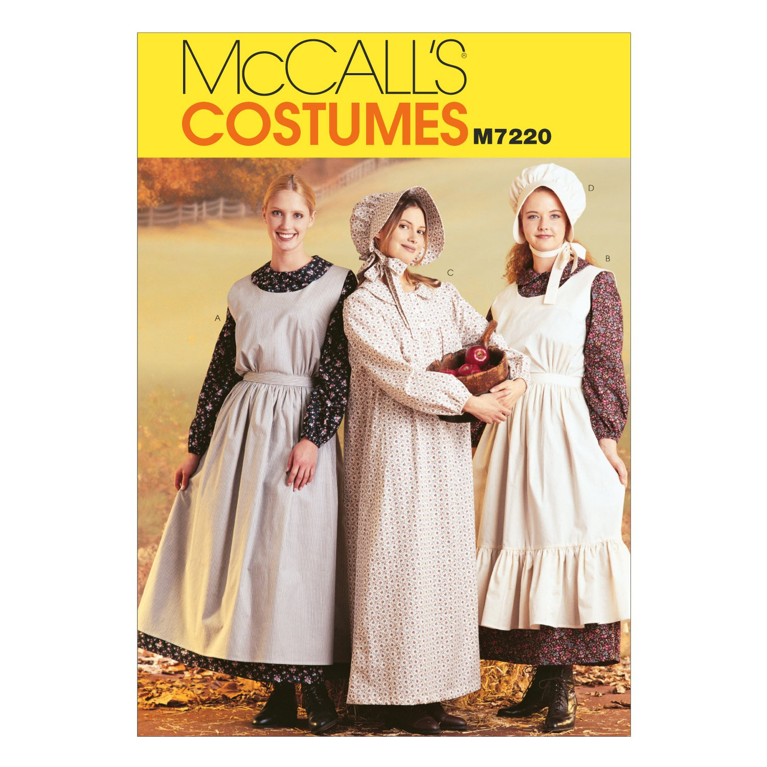 Amazon mccalls patterns m7220 misses pioneer costumes amazon mccalls patterns m7220 misses pioneer costumes sewing template sml 8 10 arts crafts sewing jeuxipadfo Images
