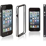Xcessor Classic Bumper Case for Apple iPhone SE / 5 / 5S. Rubber and Plastic. Black / Transparent