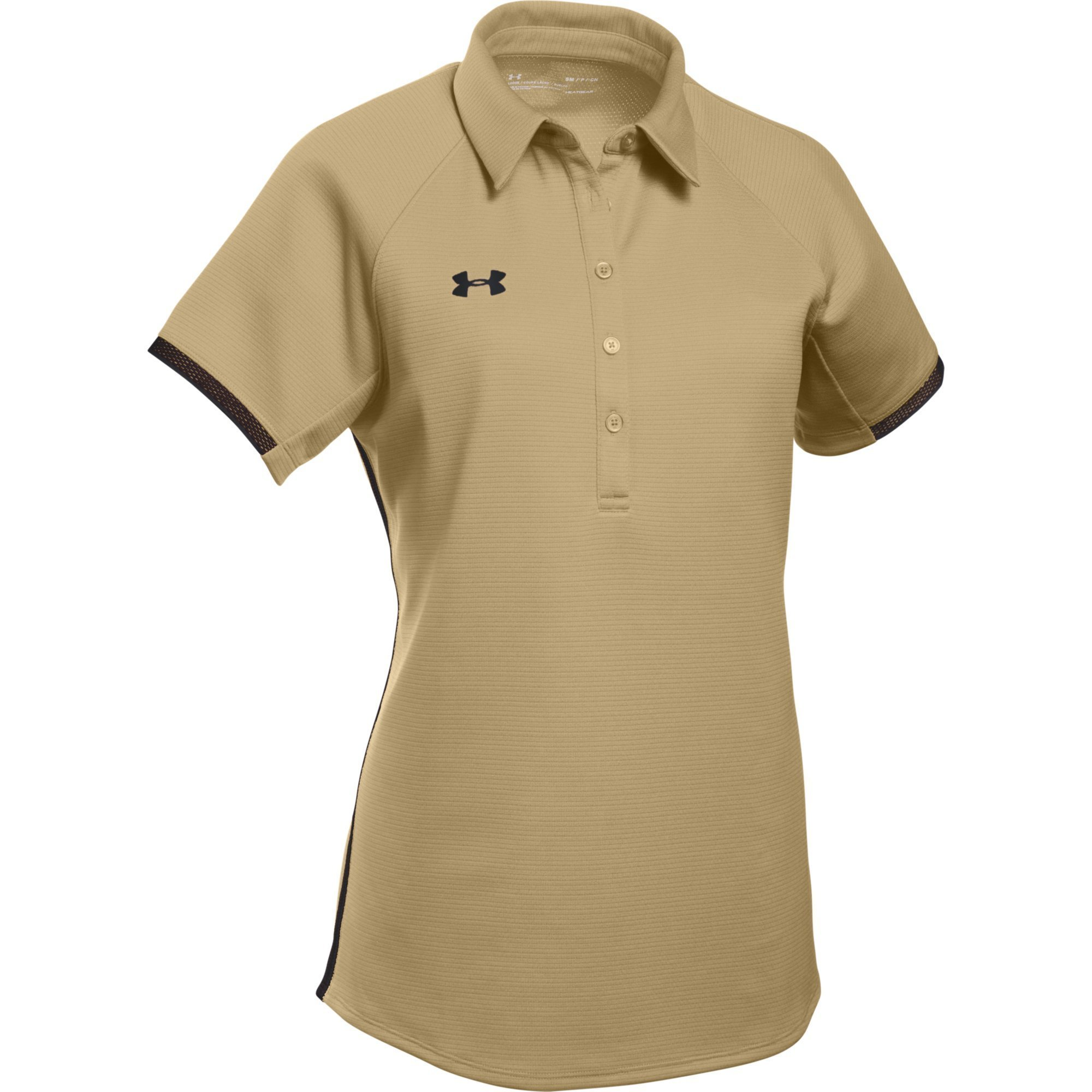 Under Armour Women's UA Rival Polo (Small, Vegas Gold-Black) by Under Armour