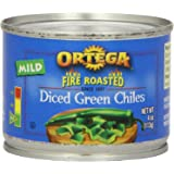 Ortega Diced Green Chiles, Mild, Diced, 4 oz