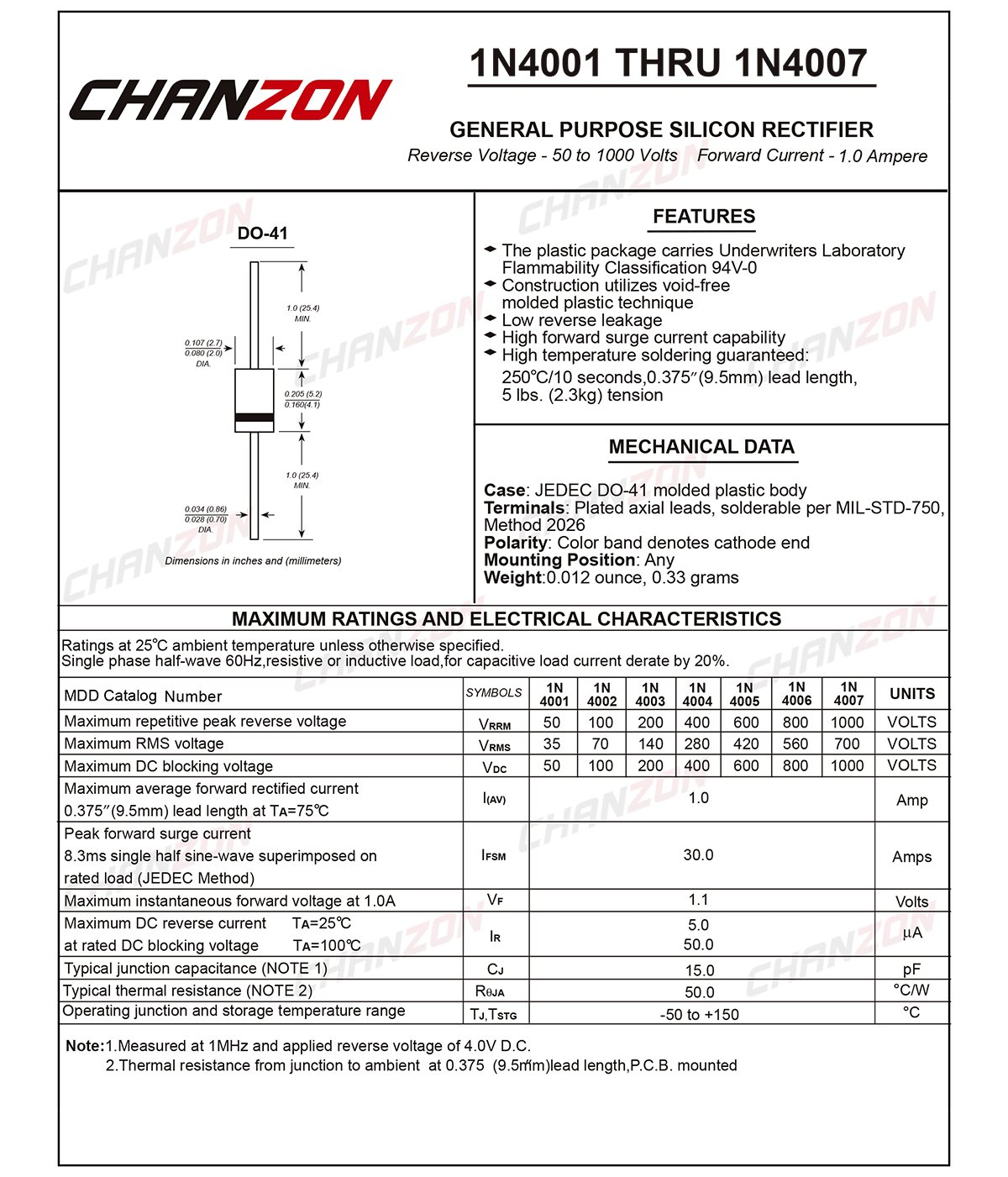 Pack Of 100 Pieces Chanzon 1n4007 Rectifier Diode 1a 1000v Do 41 Note All Diodes Used In Circuit Are In4007 The Transistor Is 204al Axial 4007 1 Amp 1000 Volt Electronic Silicon