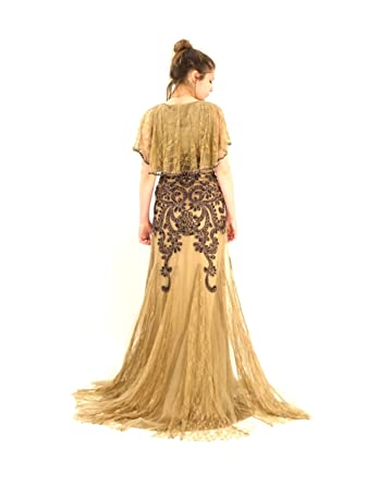 Sue wong vintage lace gown entertaining