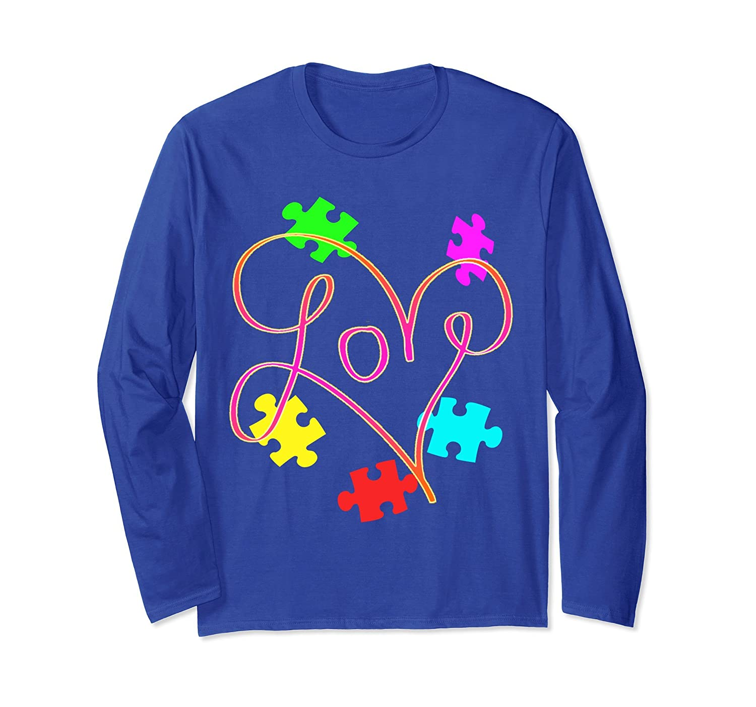 autism awareness shirts - Autism awareness love long sleeve-mt
