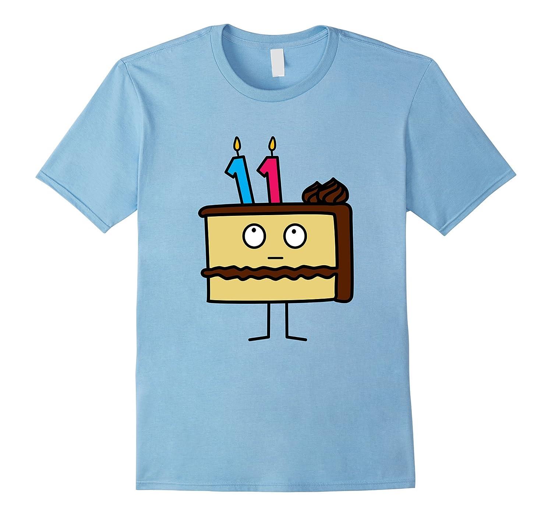 11th Birthday Cake with Candles icing chocolate vanilla-FL