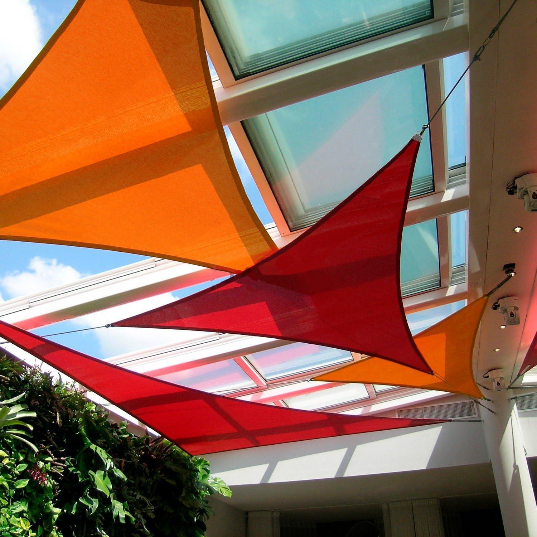 WOWCOS - Parasol Triangular, Bloqueador UV para Actividades al Aire Libre: Amazon.es: Jardín