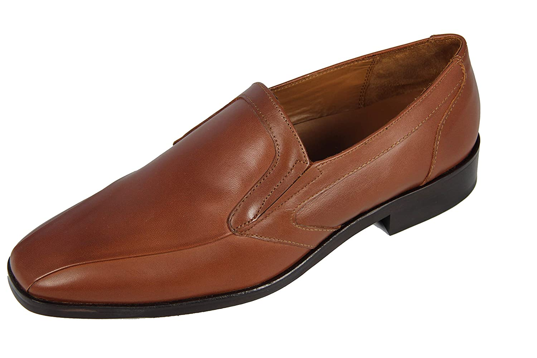 MANZ Granada Leder AGO Anzug Schuhe Herren Slipper Leder Granada 116008 03, Brandy 27019b