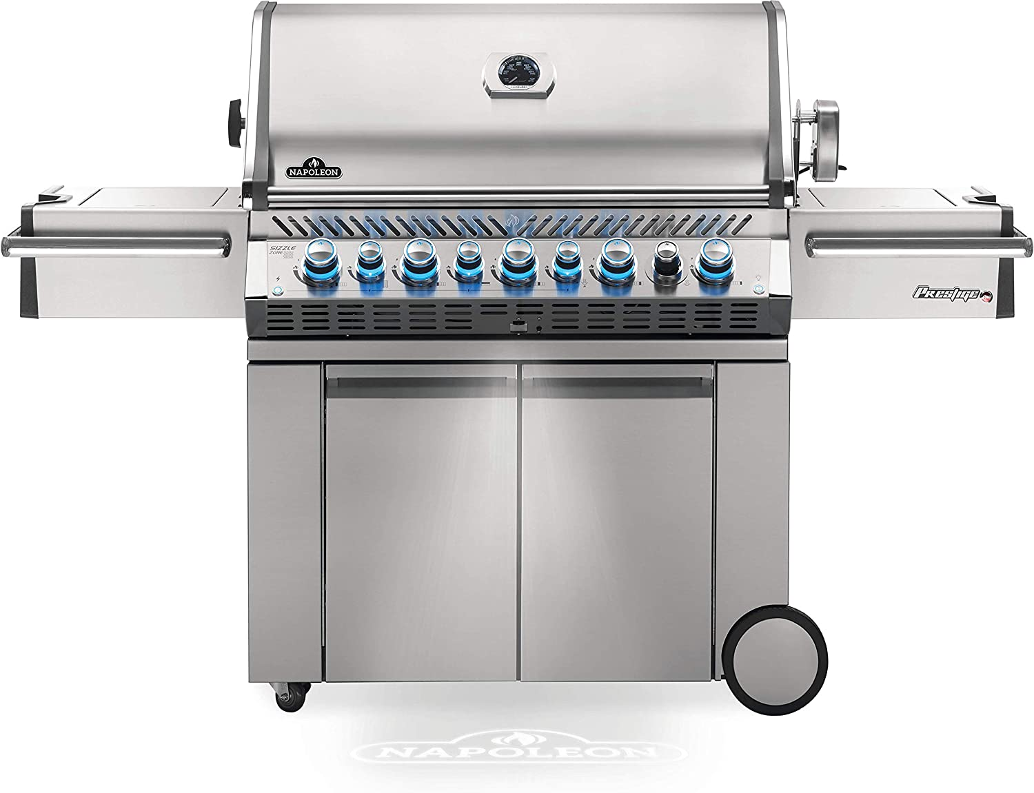 Napoleon PRO665RSIBPSS-3 Prestige PRO 665 Propane Gas Grill with Infrared Rear and Side Burner, Stainless Steel