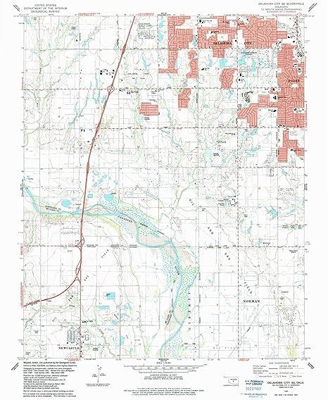 Amazon.com : YellowMaps Oklahoma City SE OK topo map, 1 ...