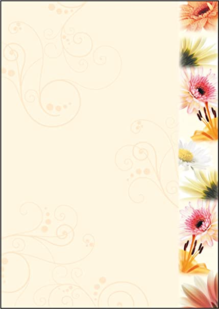 20 Blatt Briefpapier Motivpapier mit Vogel-Motiv Schwalben 100g//qm