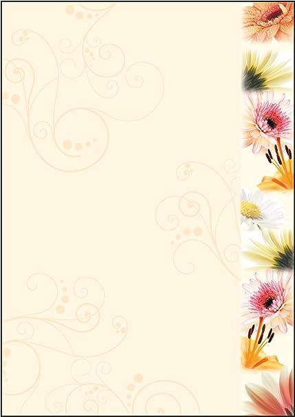 SIGEL DP788 Papel de cartas, 21 x 29,7 cm, 90g/m², flores de ...