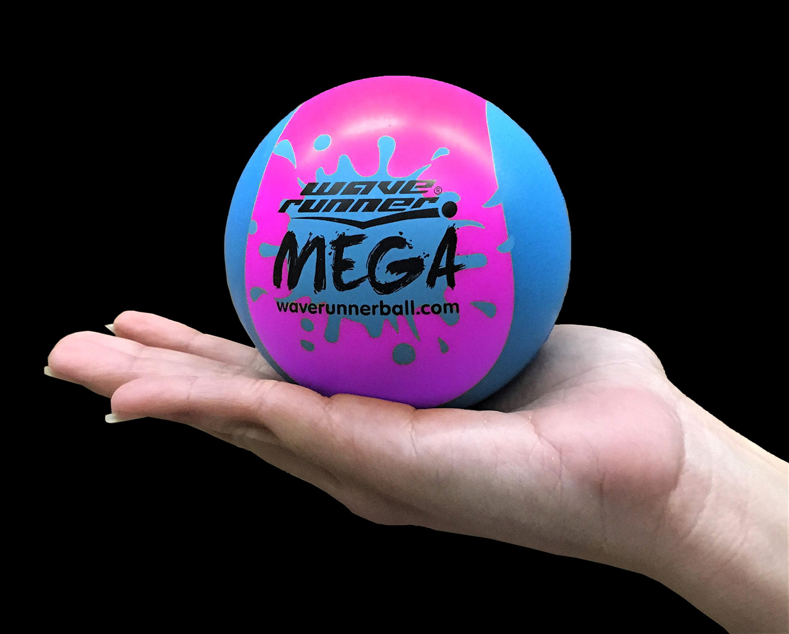 Wave Runner Water Mega 2-Tone Hydro Bouncing Ball Great for Beach Pool Pond Water Parks Vacation Summer Spring Water ls and Water Games is Here Waterproof BULK PRICE (Pink Blue)