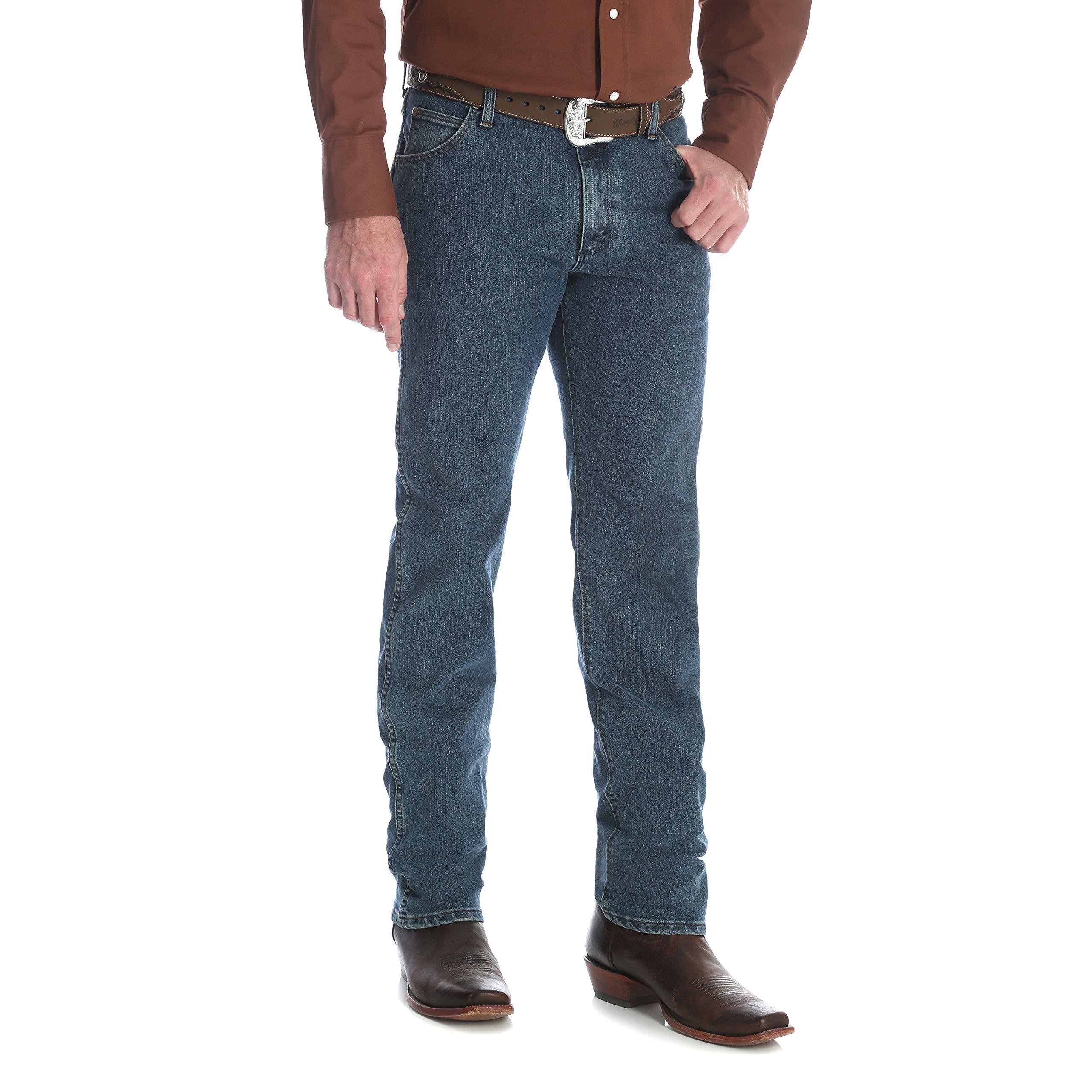 ddfbe4c0 Galleon - Wrangler Men's Premium Performance Cowboy Cut Regular Fit Jean, Vintage  Stone, 35X30