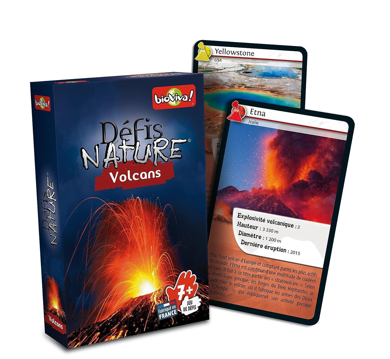 jeu de cartes défis nature - thème volcans