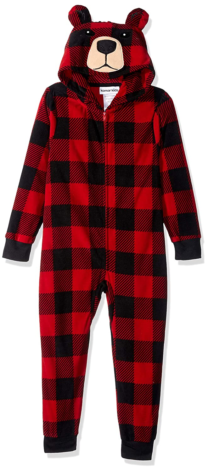 Amazon.com  Komar Kids Boys Plush Velour Fleece Hooded Blanket Sleeper  Pajama  Clothing a5429b8c8