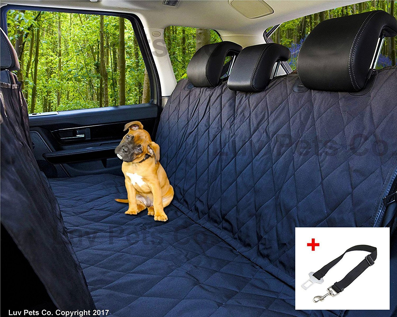 Terrific Value Bright Durable Car Pet Foldable Seat Cover Waterproof Scratchproof Dog Protector Hammock sky-blue