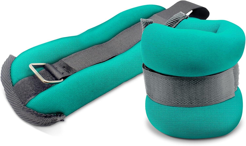 TKO Men Teal Soft Neoprene Ankle /& Wrist Weights 5 Lb Set Two 2.5 LB Resistance