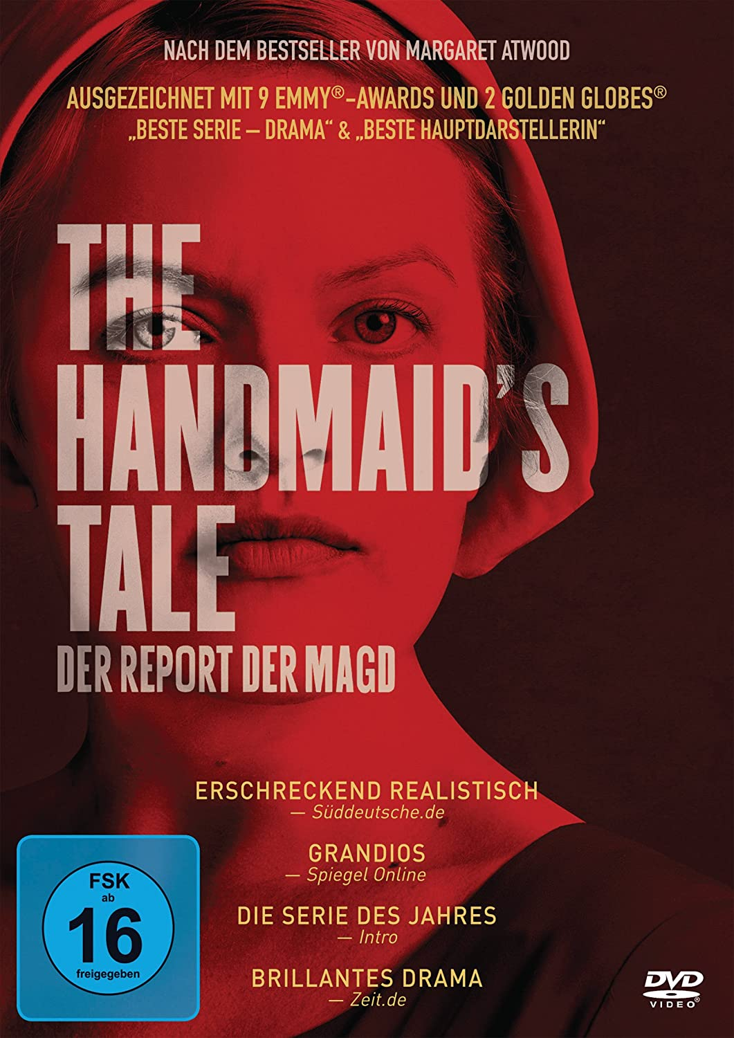 Cover: The Handmaid's Tale – Der Report der Magd Season 1 (4 DVD-Videos , circa 9 Stunden)