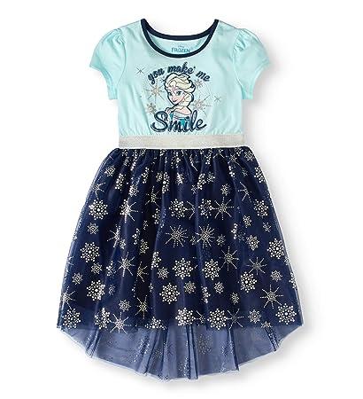 15f056c5a7d8 Amazon.com  Disney Frozen Girls Elsa Glitter Graphic Short Sleeve ...