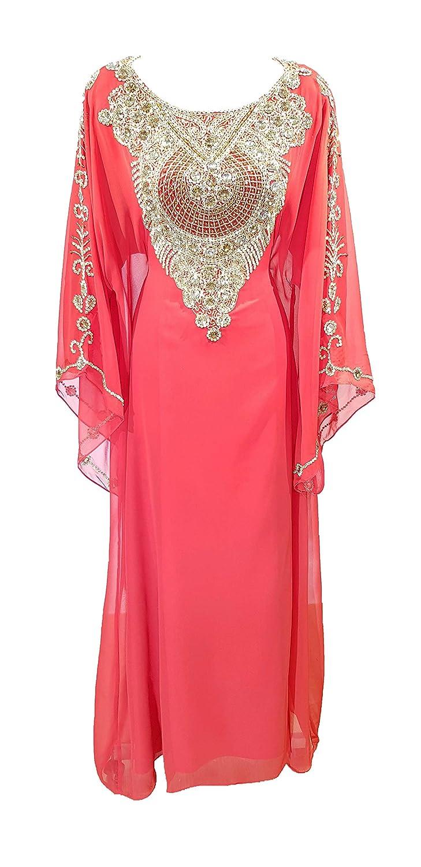 Caftan marocain Takchita Robe Orientale Dubai (Blanc cassé)  Amazon.fr   Vêtements c7dc0a8689b