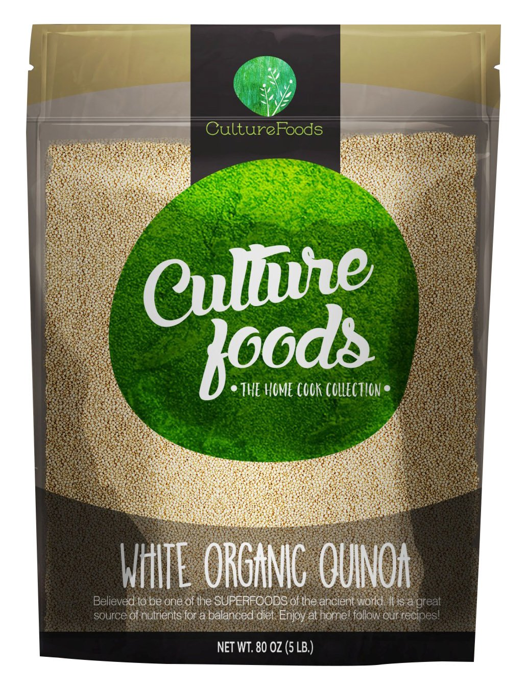 Culture Foods The Finest Organic Quinoa Peruvian Whole Grain 5 Piece Value Pack, 80 oz by Culture Foods