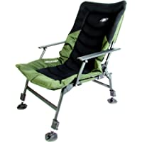 Madfish Instinct High Back Recliner Chair Telescopic height adjustment, non sink mud feet, deep padded, breathable back rest, with arms & recliner function