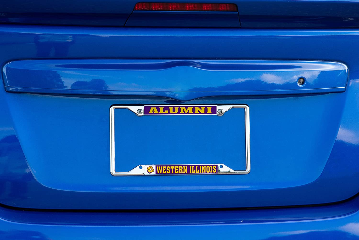 Alumni Desert Cactus Western Illinois University WIU Leathernecks NCAA Metal License Plate Frame for Front Back of Car Officially Licensed