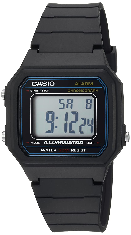 Casio Men s Classic Quartz Resin Casual Watch, Color Black Model W-217H-1AVCF