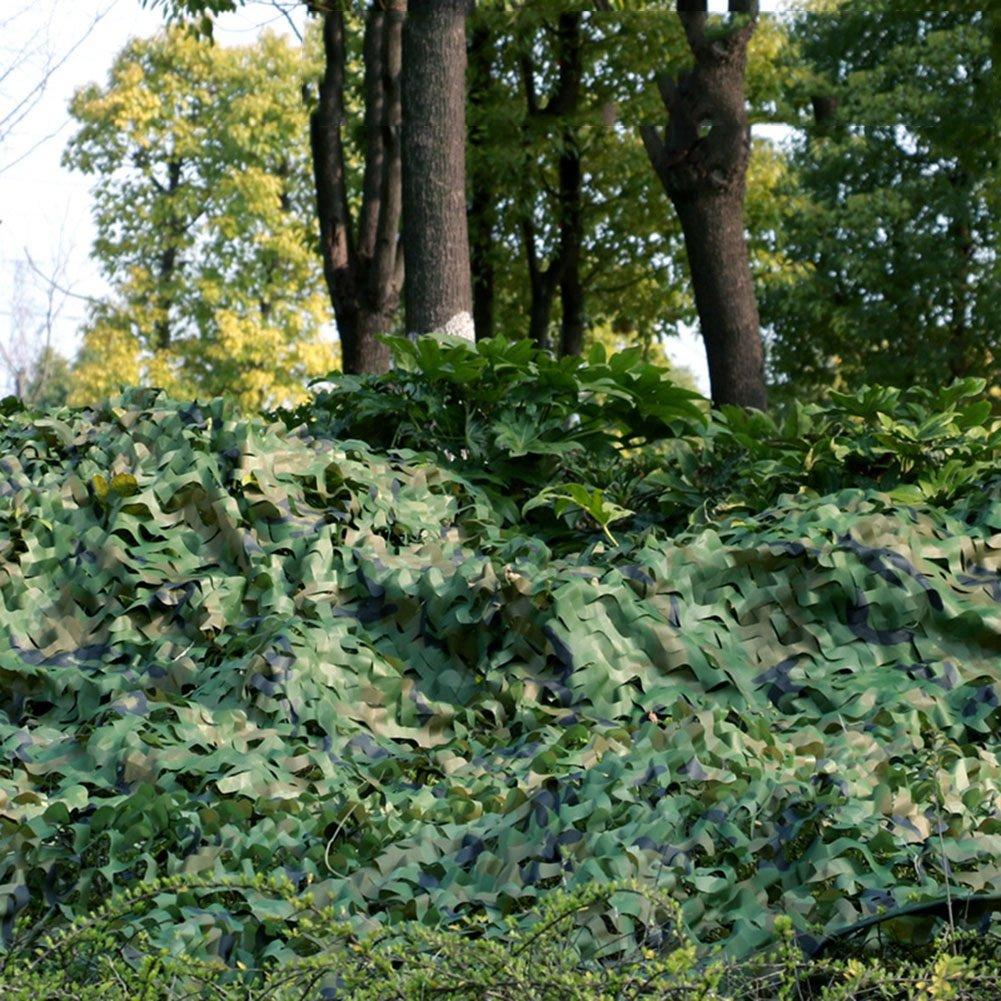 DYFYMXSonnenschirm Sonnenschutznetz, Sonnenschutz atmungsaktiv Dschungel Camouflage Tarnnetz Außendekoration Flugabwehrschutznetz (Farbe   Grün, größe   4x6m)
