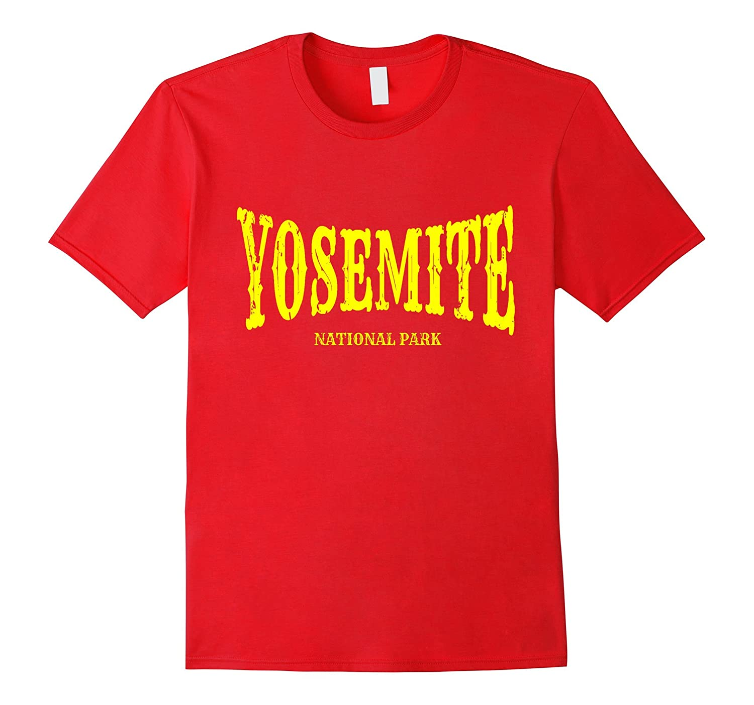 Yosemite National Park T-Shirt with Yellow Text-PL