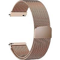 Fullmosa Cinturino di Ricambio per Orologio Milanese, in 6 Colori, con Chiusura Magnetica in Acciaio Inox, Ricambio per Orologio 14/16/18/19/20/22/24 mm