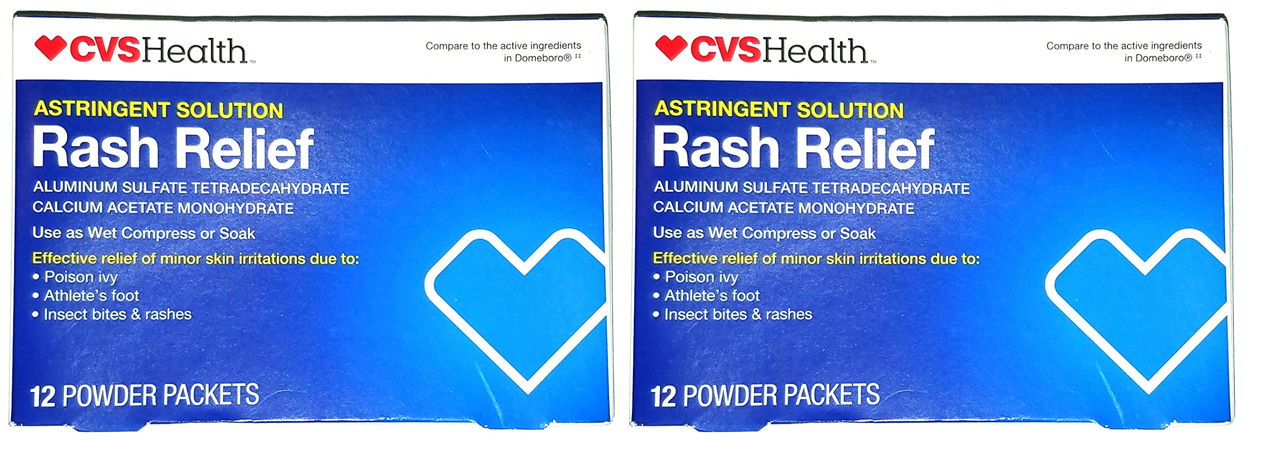 (2 Pack) Astringent Solution Soothing Soak Rash Relief Packets, 12 ea
