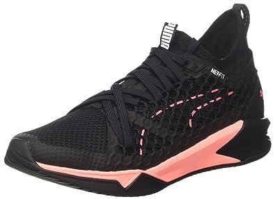 4f2b540f3a306 Puma Damen Ignite XT Netfit WN s Cross-Trainer Schwarz Black-Soft Fluo  Peach