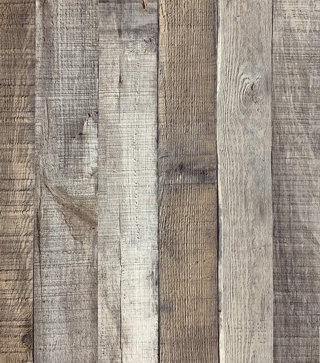 """Distressed Wood Wallpaper Peel and Stick Wallpaper 17.71"""" x 118"""" Faux Plank Wallpaper Self Adhesive Reclaimed Film Shiplap Home Cabinet Vinyl Removable Decorative Waterproof"""