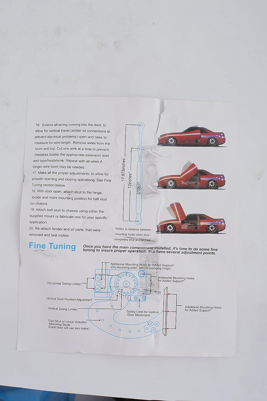 90 Degree Vertical Lambo Door Conversion Kit Universal Mophorn Universal Lambo Door Kit Bolt On Vertical Doors Hinge Kit Fit for Audi Dodge Ford Honda Toyota Nissan Chevrolet etc