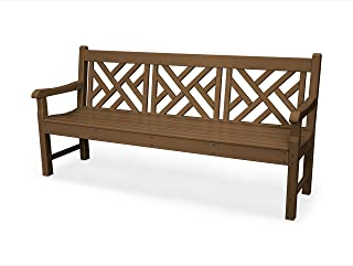 product image for POLYWOOD Rockford 72-Inch Chippendale Bench, Teak