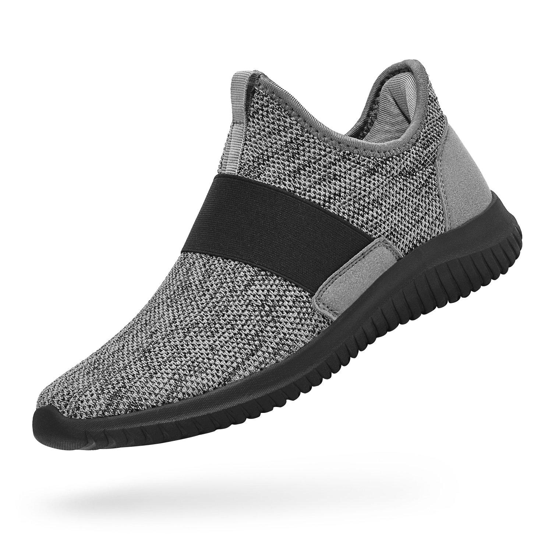 Troadlop Womens Sneakers Lightweight Breathable Mesh Slip On Casual Tennis Shoes Athletic Walking Running Sneakers B07D8W72K4 11 M US Gray