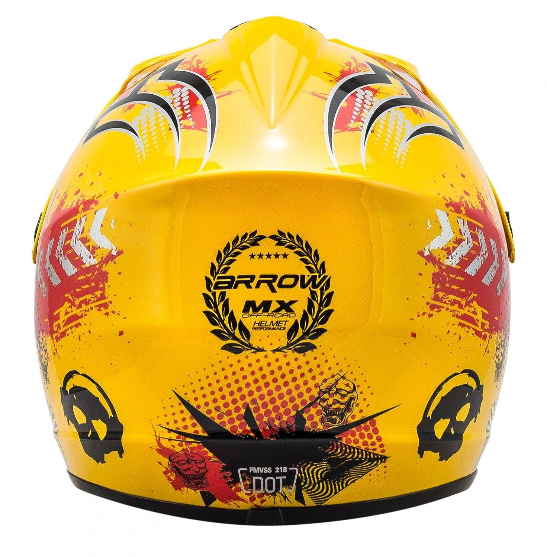 """Armor /· AKC-49 /""""Red/"""" /· Casco Moto-Cross /· NINOS Quad Racing motocicleta Off-Road Enduro Scooter /· DOT certificado /· Click-n-Secure/™ Clip /· Bolsa de transporte /· XL red 59-60cm"""