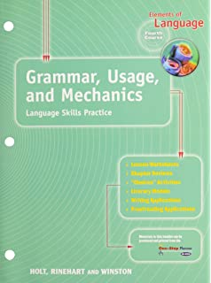 Elements Of Language 5th Course Grade 11 Grammar Usage And