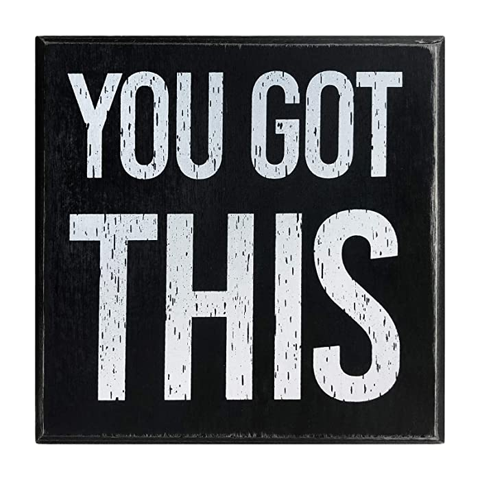 """You Got This 5""""x5"""" Motivational Wall Art Decor Box Sign with Quotes for Office Desk Home Kitchen Bedside Table or Shelf by Break The Chain"""