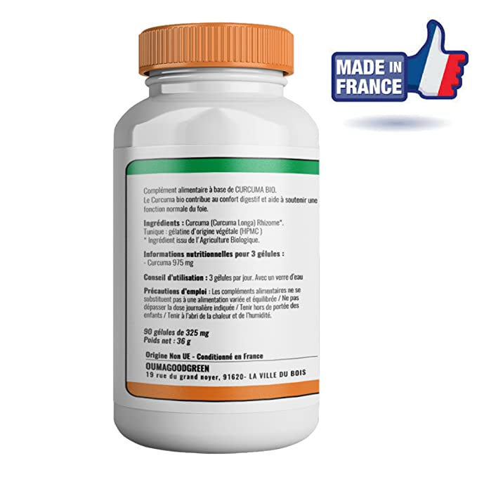 Cúrcuma orgánica 90 cápsulas-Efectos inmediatos-Raíces de Cúrcuma Longa para aliviar las articulaciones y calmar los dolores: Amazon.es: Salud y cuidado ...