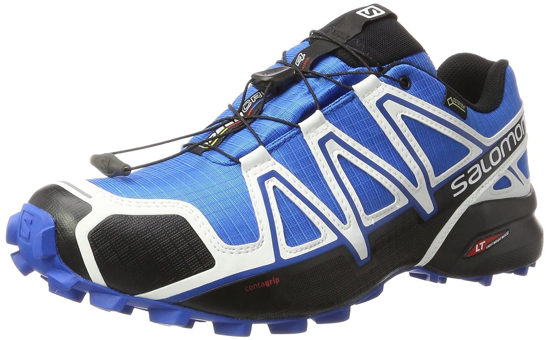 Salomon Speedcross 4 GTX, Zapatillas de Senderismo para Hombre 47 1/3 EU|Azul (Indigo Bunting/Black/White)