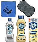 Bar Keepers Friend Cleanser Trio - Mega Bundle (21 Oz Cleanser & Polish Powder | 26 Oz Liquid Soft Cleanser | 13 Oz…