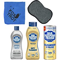Bar Keepers Friend Cleanser Trio - Mega Bundle (21 Oz Cleanser & Polish Powder | 26 Oz Liquid Soft Cleanser | 13 Oz…