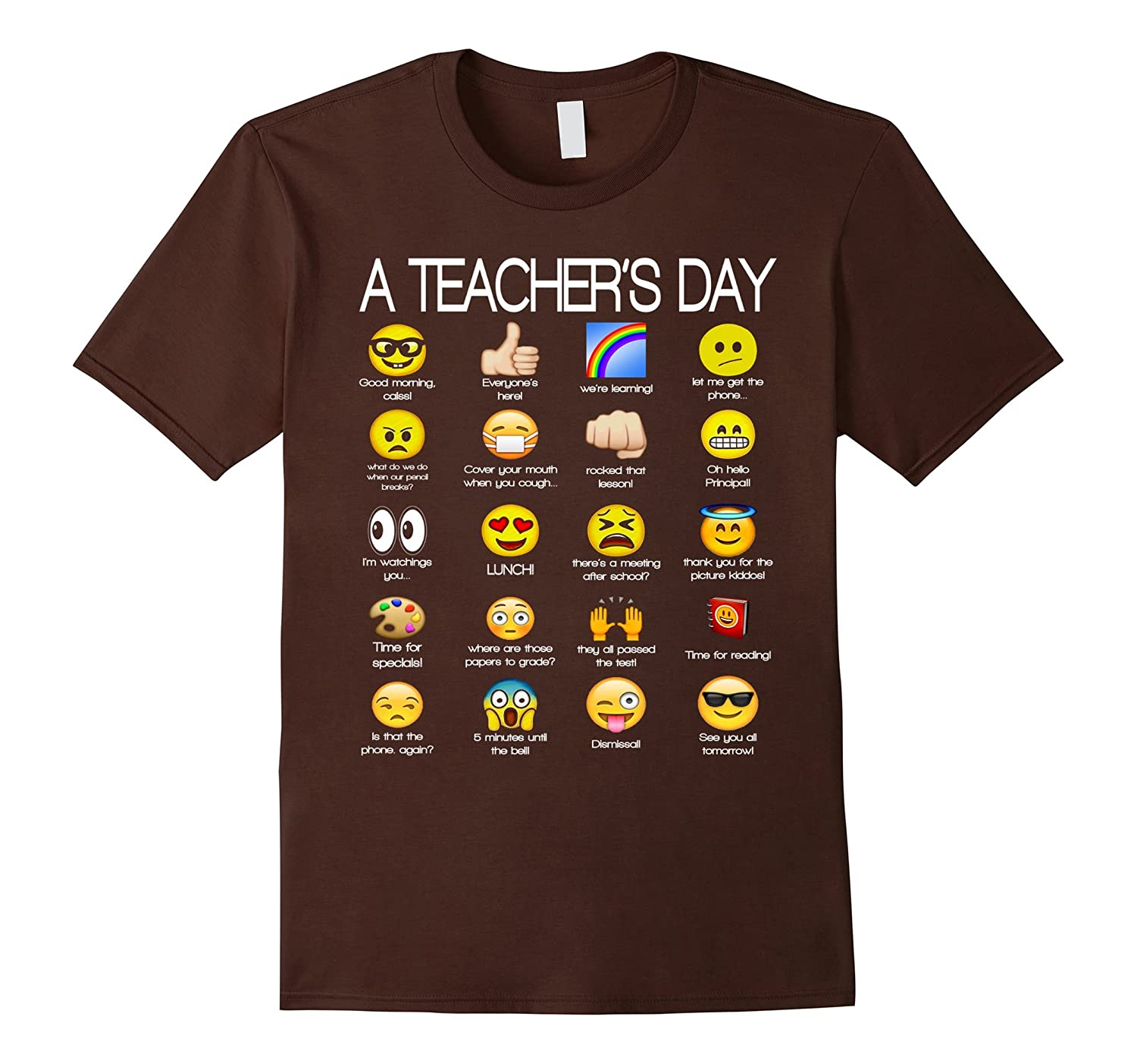 A Teacher's Day T Shirt Funny Emoji Teacher Gift-SFS